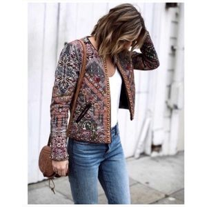 {Anthro} Hament & Nandita quilted studded jacket
